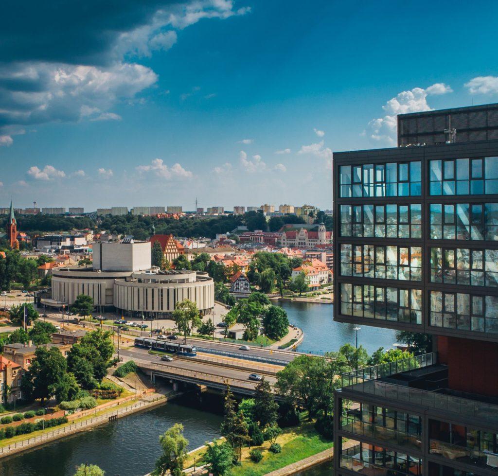 Zdjecia lotnicze Toruń